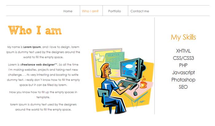Paradigm Single Page Portfolio