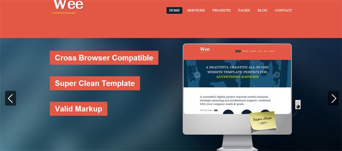 Wee HTML Template