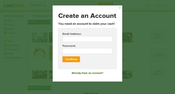 Lootback Create Account