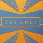 Designer logo on cool ground