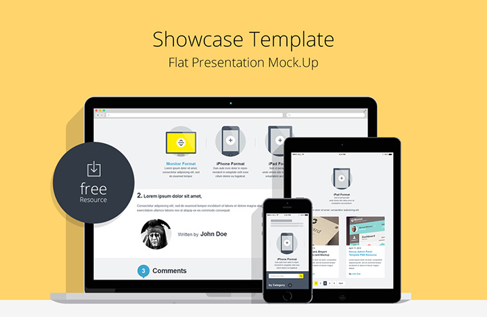 Flat Responsive Showcase Template