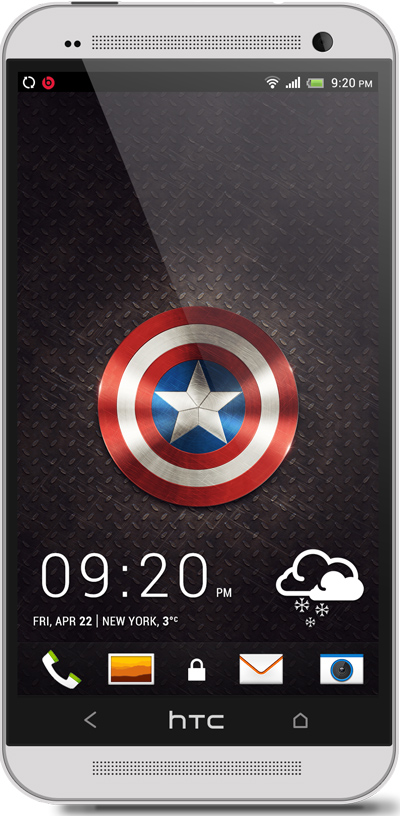 Captain America HTC One Wallpaper