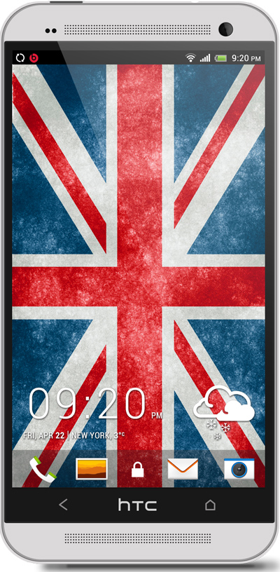 England Flag HTC One Wallpaper