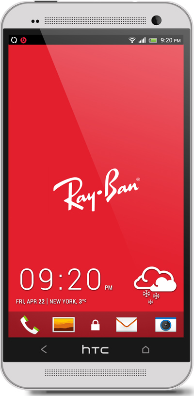 Ray Ban HTC One Wallpaper