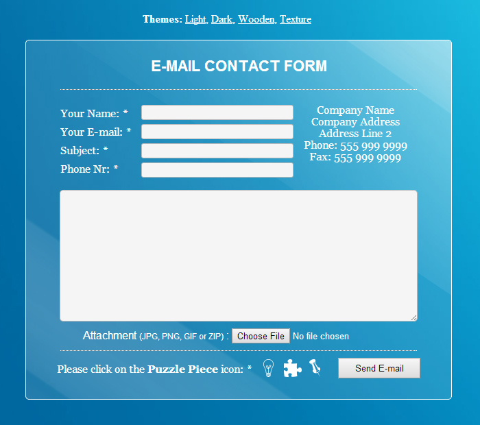 24 Amazing HTML Contact Forms You Can Download Right Now