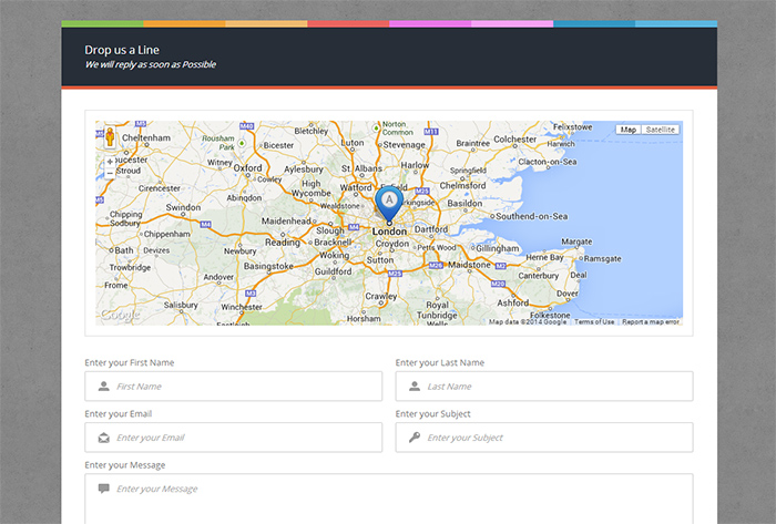 Google Map On Contact Us Page Wordpress Contact Page Template - Wordpress contact us page with google map