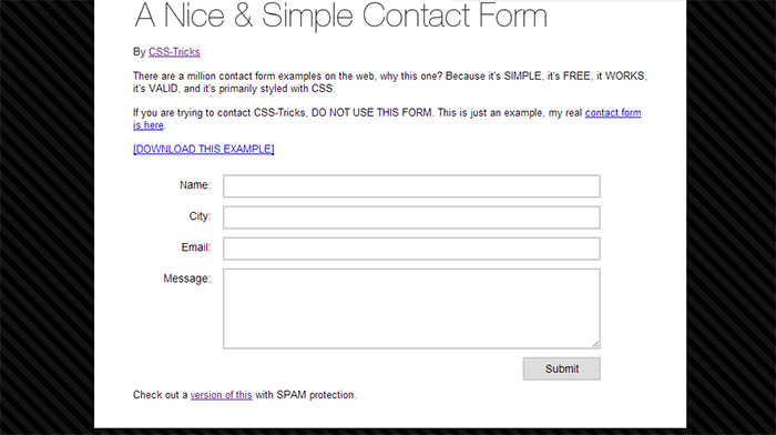 Simple and Nice Contact Form