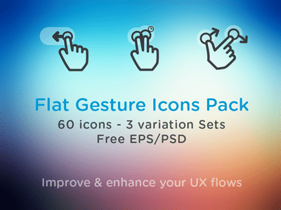Free Flat Gesture Icons Pack