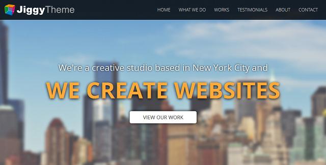 Jiggy - Single page portfolio theme
