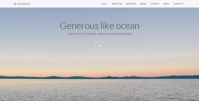 Oceanica - Responsive Single Page Theme/?ref=btstrapbay
