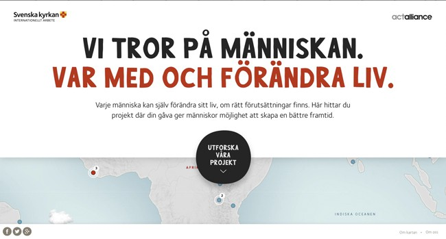 inspiration-interactive maps| Svenska kyrkans Internationella arbete