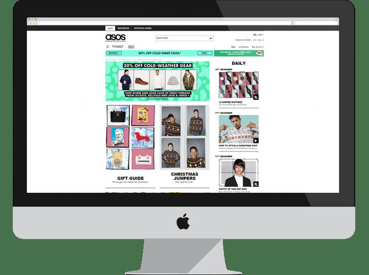 asos e-commerce designs