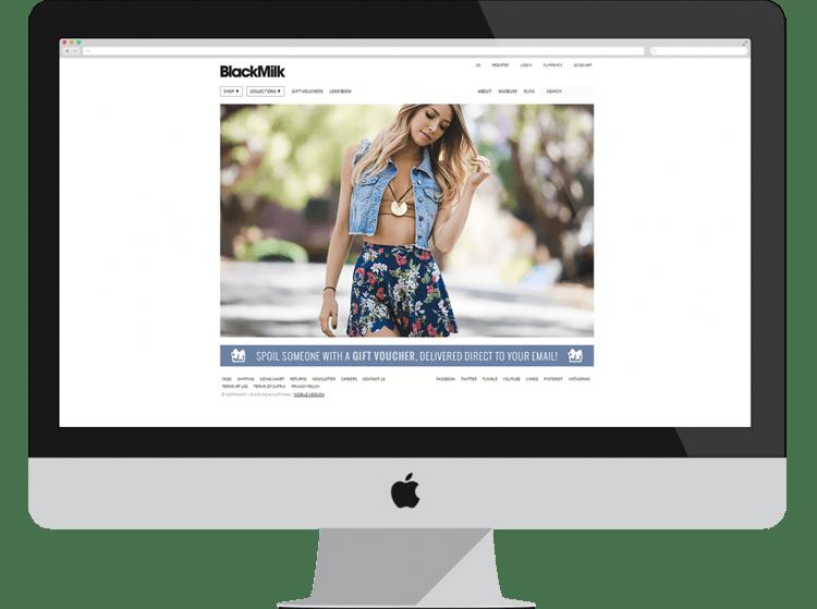 blackmilk e-commerce designs