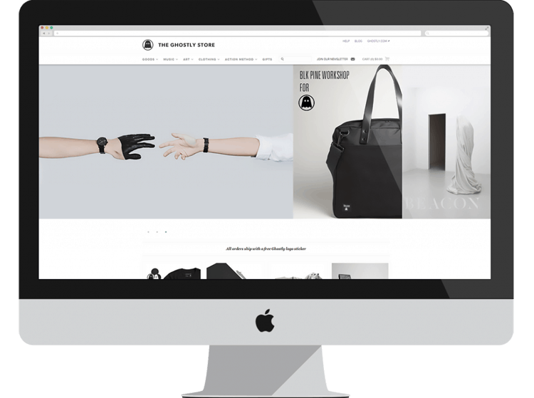 ghostly e-commerce designs