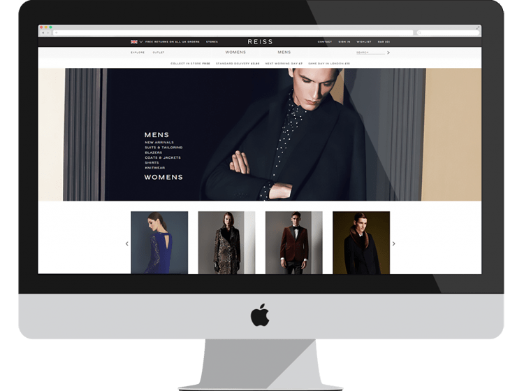 Reiss ecommerce <a href=