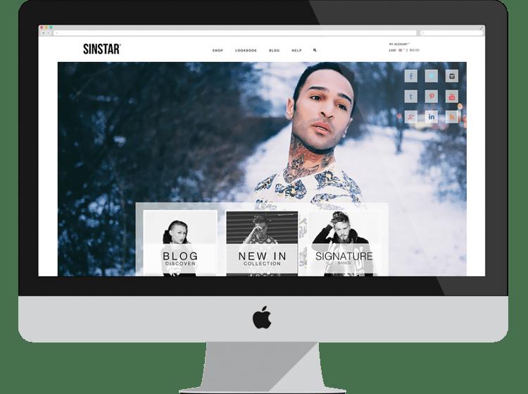 sinstar e-commerce designs