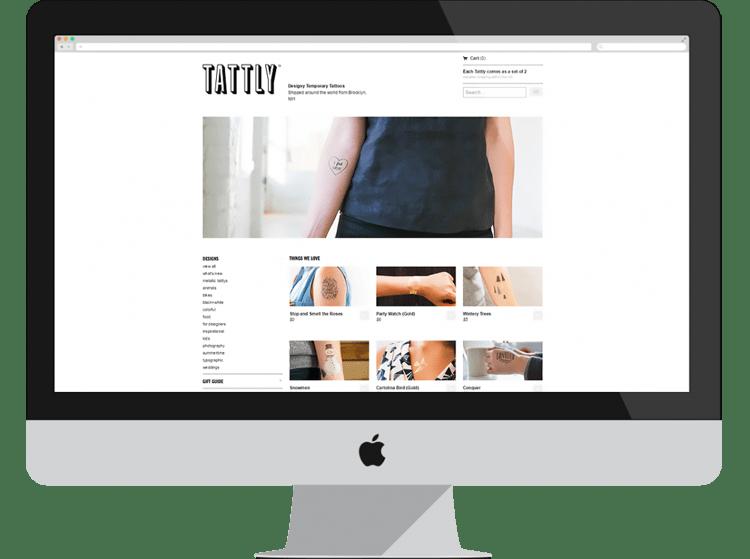 tatttly e-commerce designs