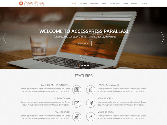 accesspress_minimal wordpress themes