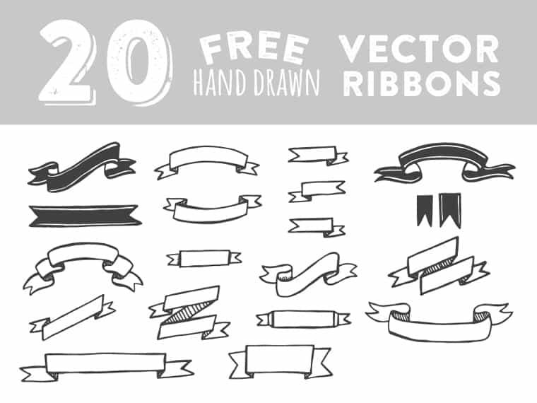 hand-drawn-vector-ribbons