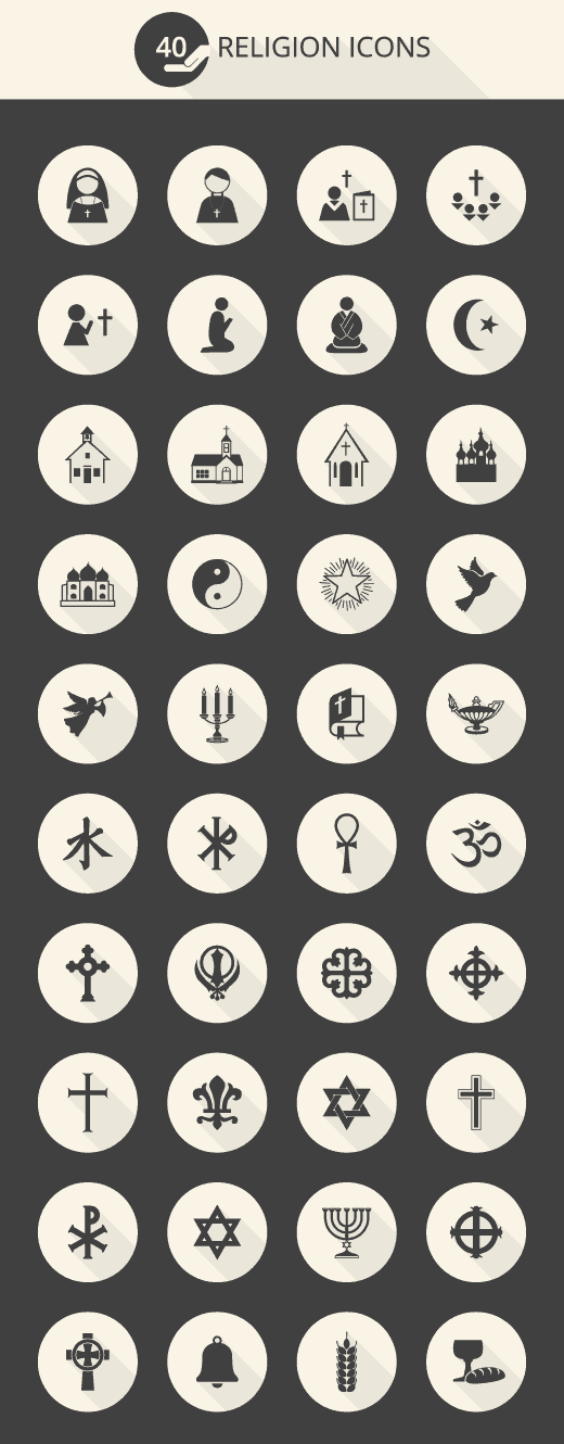 religion-icon-set