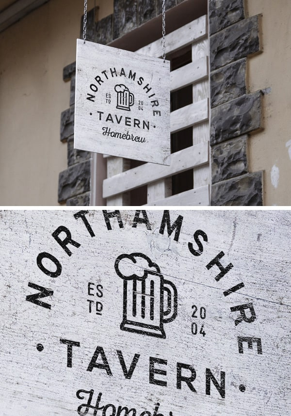 outdoor tavern sign board