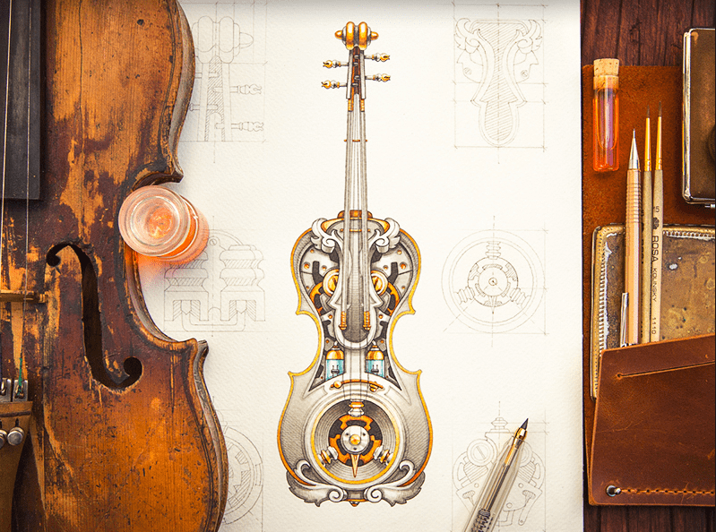 daily inspiration steampunk violin