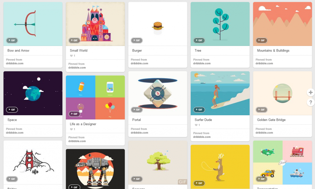 Great Examples of Animated GIFs on Pinterest   16 Pins