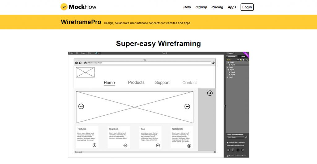 MockFlow WireframePro   <a href=