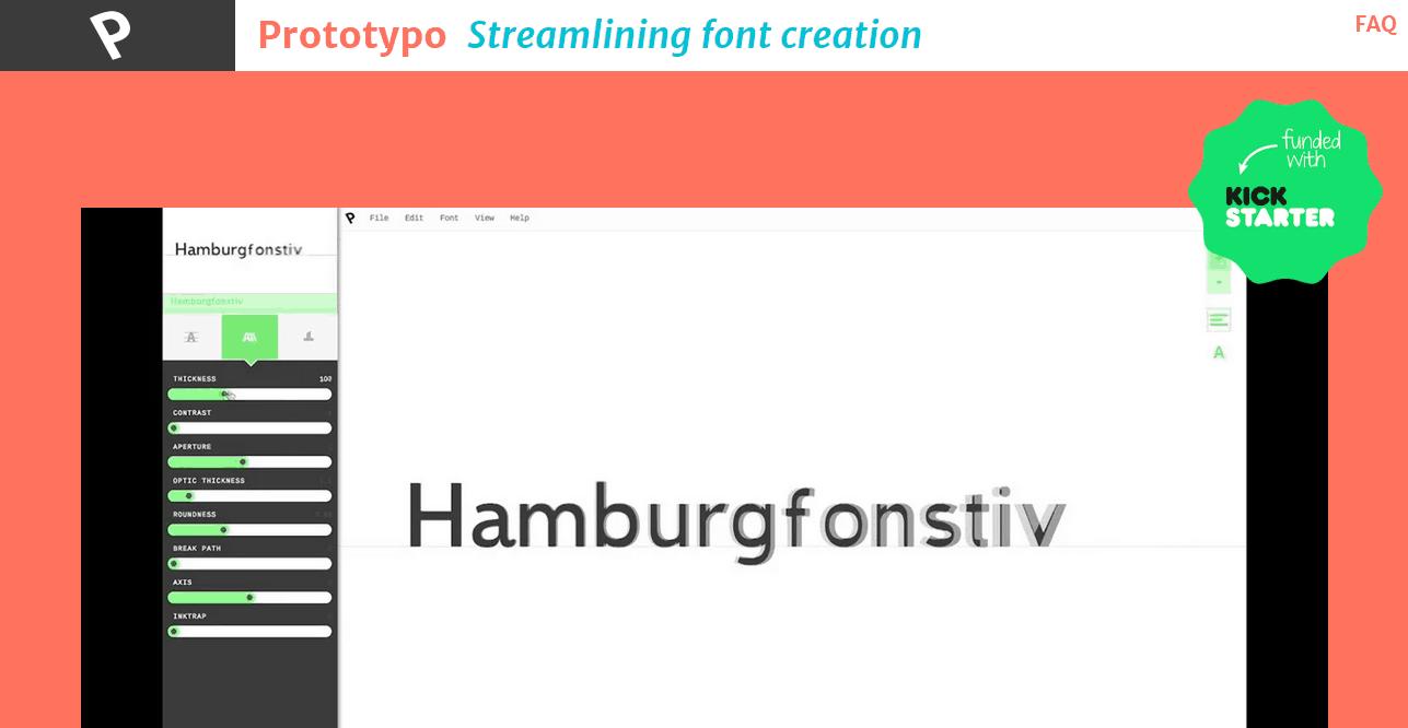 Prototypo   Streamlining font creation