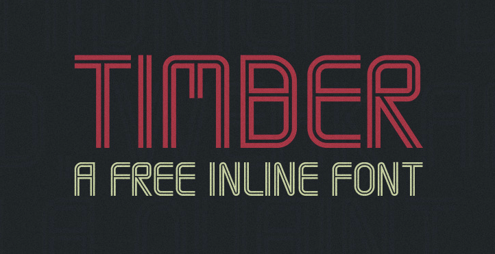 daily freebie timber font