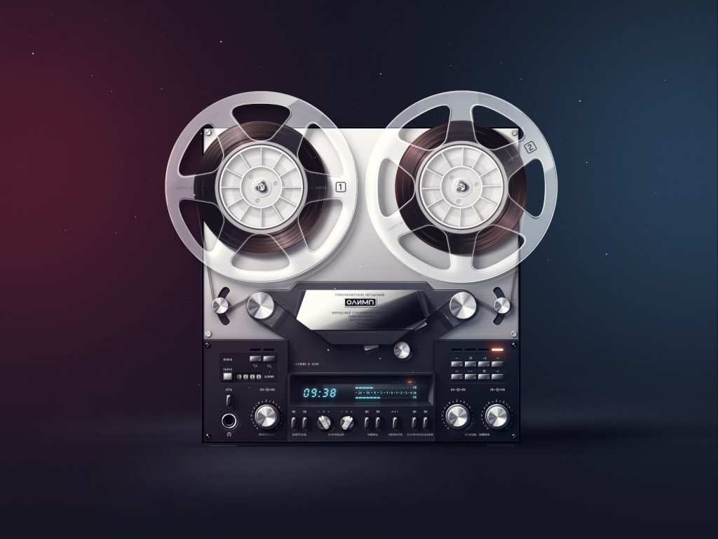 daily freebie retro tape recorder wallpaper