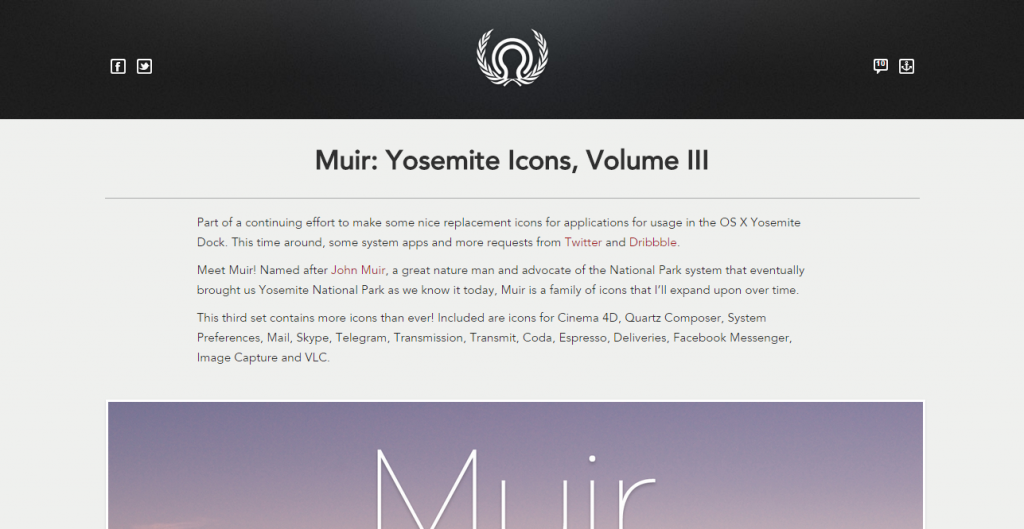 designers roundup Muir  Yosemite Icons  Volume III   Sebastiaan de With s blog