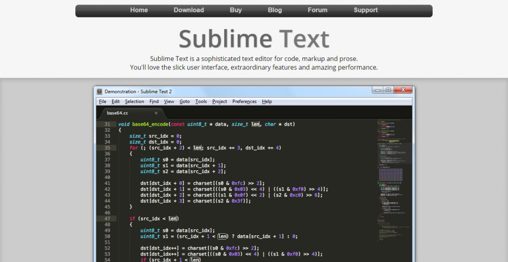 designers roundup Sublime Text  The text editor you ll fall in love with