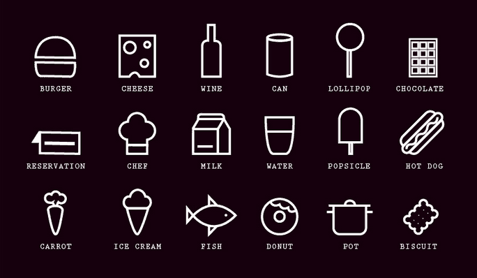 daily freebie - food cooking icons black