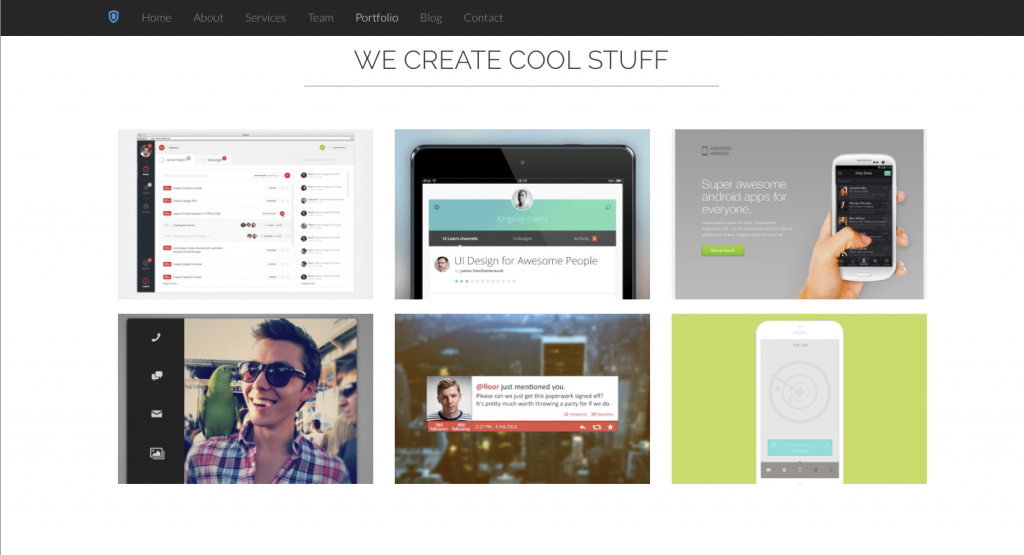 daily freebie shield bootstrap 3 template 2