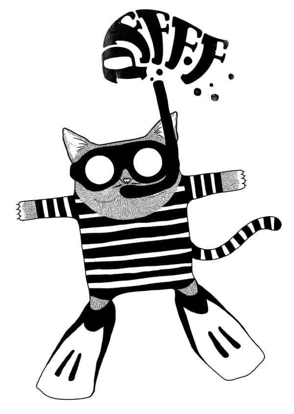 inspirational cat illustrations
