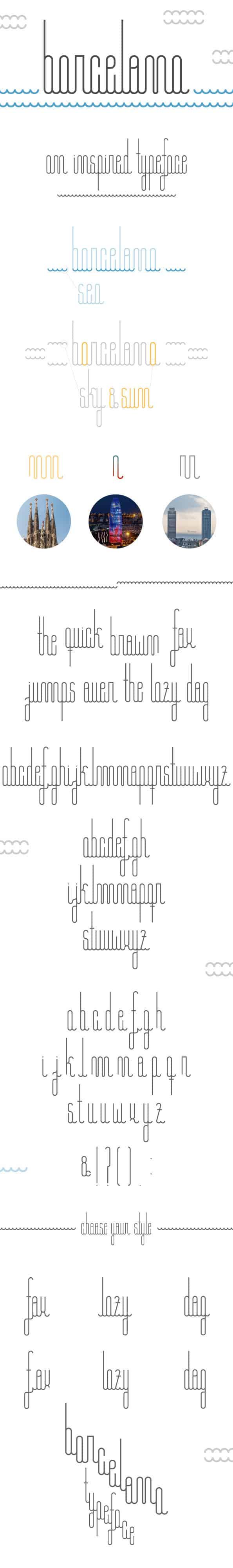 daily freebie barcelona font