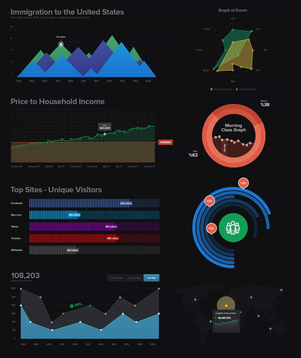 daily freebie dark UI dashboard