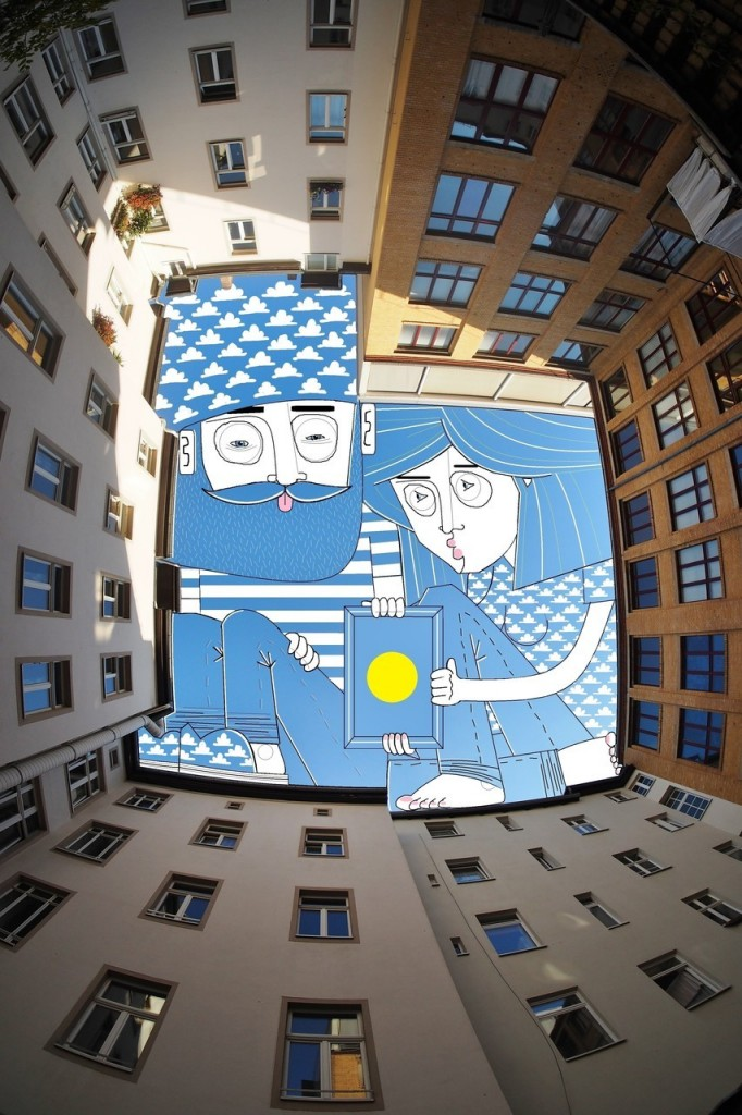 Comic Illustration in the Sky by Thomas Lamadieu