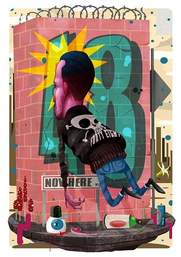 Graffiti Wall and Street Artist Joshua Gent