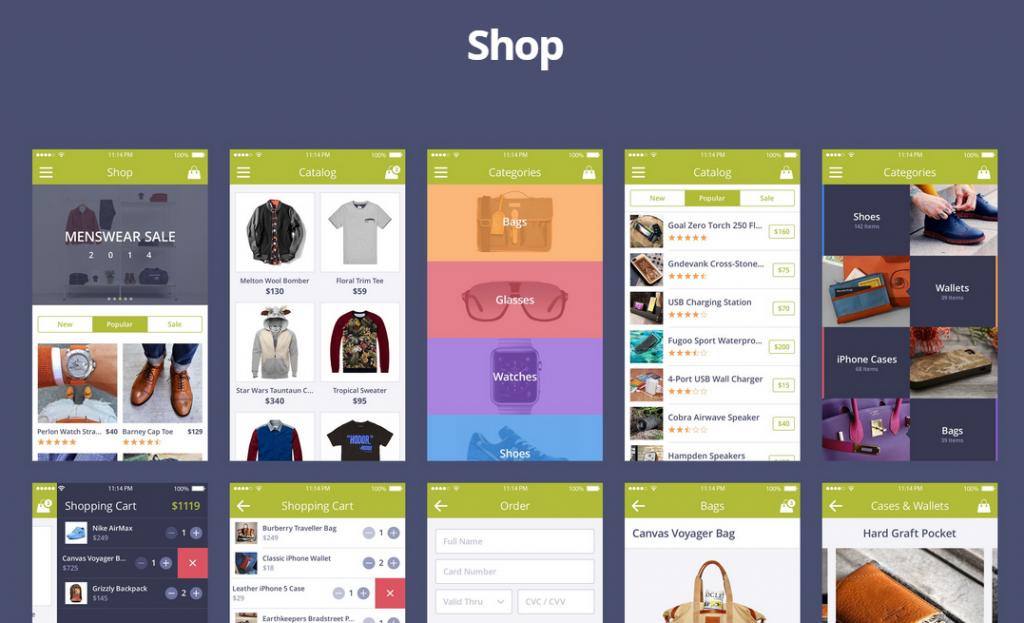 Daily Freebie: Coloristic Mobile UI Kit