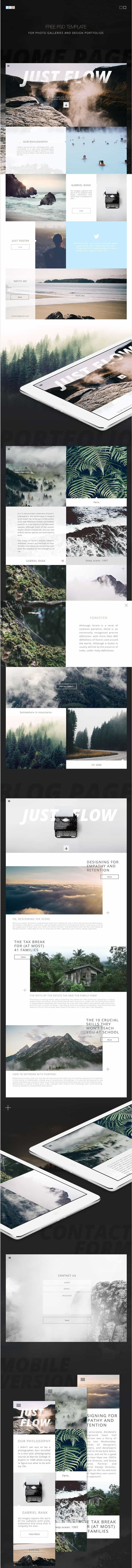 Daily Freebie: Unique Web Template for Photo Galleries and Design Portfolios (PSD)