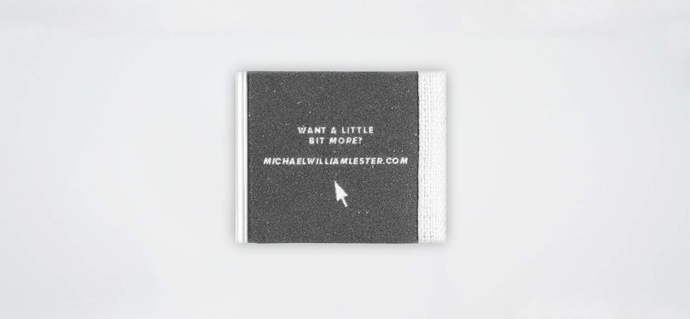 Featured Work: The World's Smallest Portfolio by Michael Lester