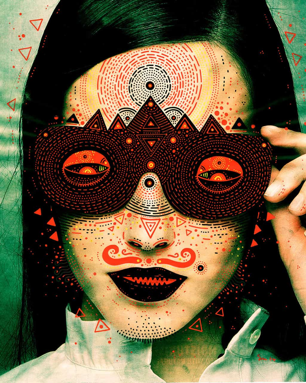 Featured Work: Scary but Brilliant Masks of Culture 4