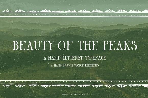 beauty of the peaks