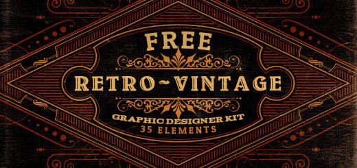 Daily Freebie: 35 Retro Vintage Graphic Elements Kit
