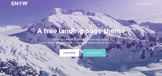 Daily Freebie: Snow - Bootstrap Landing Page Theme