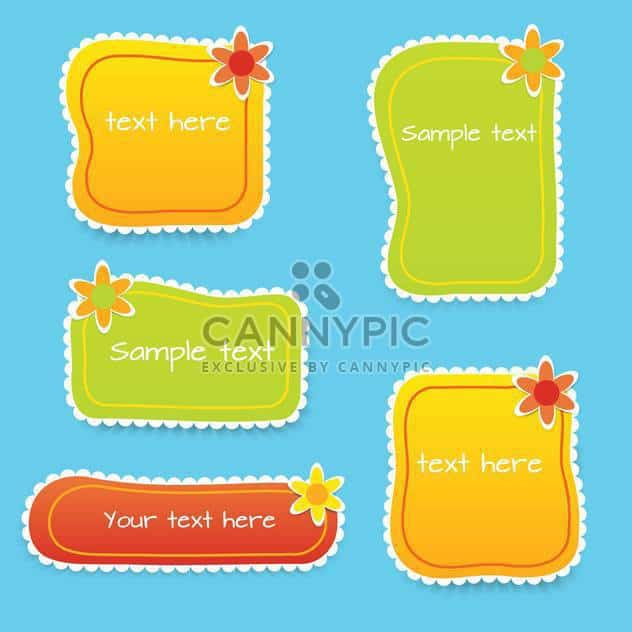 Vector set of colored floral frames