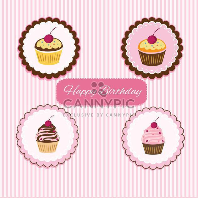 Happy Birthday cupcake card - http://www.CannyPic.com