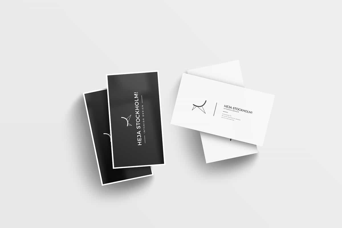 Freebie: 8 Free Clean Business Card Mockups (PSD) 2